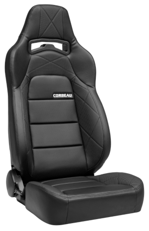 Corbeau Trailcat Racing Seat Black Vinyl/Black HD Vinyl 44912
