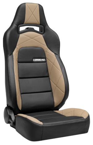 Corbeau Trailcat Racing Seat Black Vinyl/Beige HD Vinyl 44914