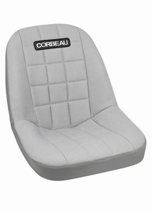 Corbeau Rhino Stock Seat Replacement Cover Grey Vinyl w/Grey Cloth Center 52099