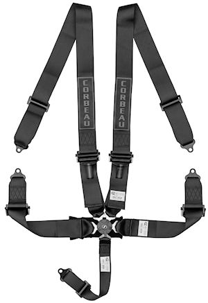 3-Inch Black 5-Point Camlock Harness Belt 53001B (+$50)