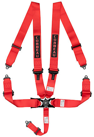3-Inch Red 5-Point Camlock Harness Belt 53007B (+$50)