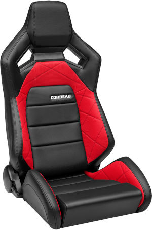 Corbeau RRX Racing Seat Black Vinyl/Red HD Vinyl 55070