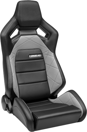 Corbeau RRX Racing Seat Black Vinyl/Grey HD Vinyl 55090