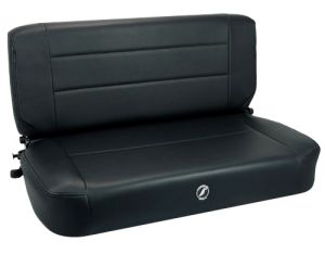 Corbeau Safari Jeep CJ/YJ Back Seat Black Vinyl 60010