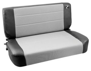 Corbeau Safari Jeep CJ/YJ Back Seat Black Vinyl/Grey Cloth 60019
