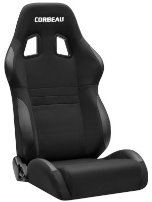 Corbeau A4 Racing Seat WIDE Black Cloth 60091W (+$80)
