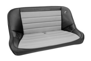 Corbeau Baja Bench Seat 40-Inch Black Vinyl w/Grey Cloth Insert 64019 (+$50)