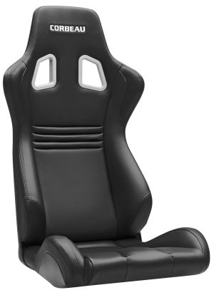 Corbeau Evolution X Racing Seat Black Vinyl / Carbon Fiber Vinyl / Black Stitching 64901FB