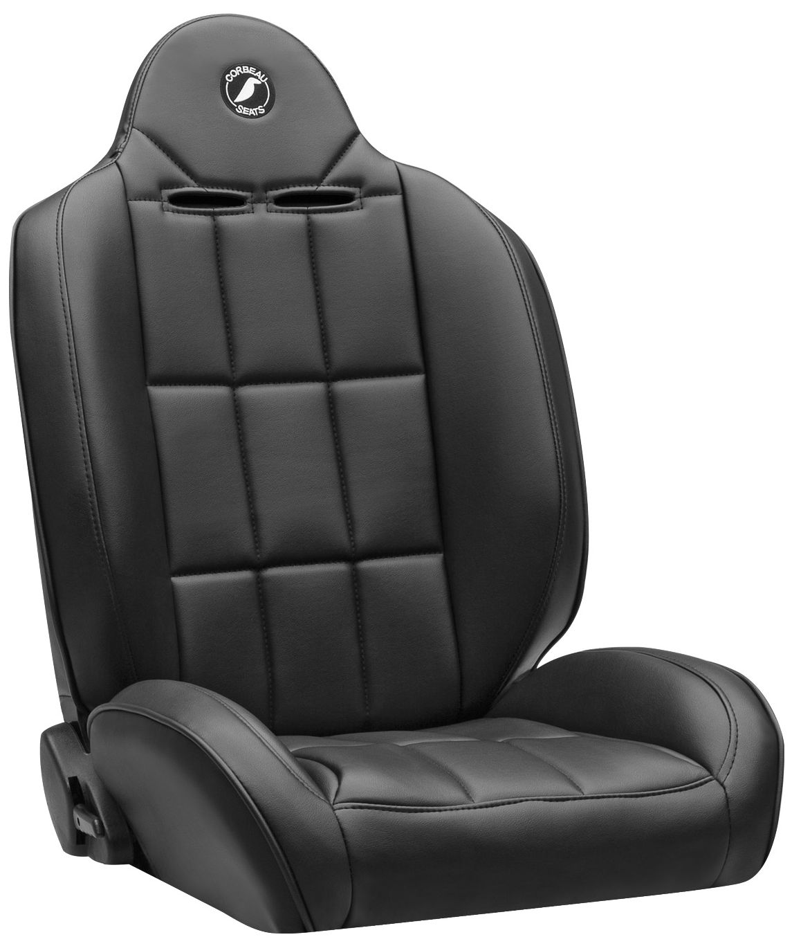 Corbeau Baja RS Racing Seat Black Vinyl 66401