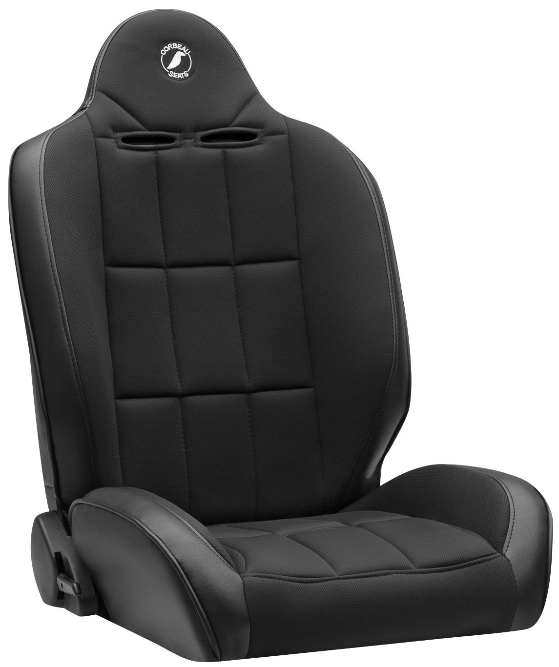 Corbeau Baja RS Racing Seat Black Vinyl/Black Cloth 66402B