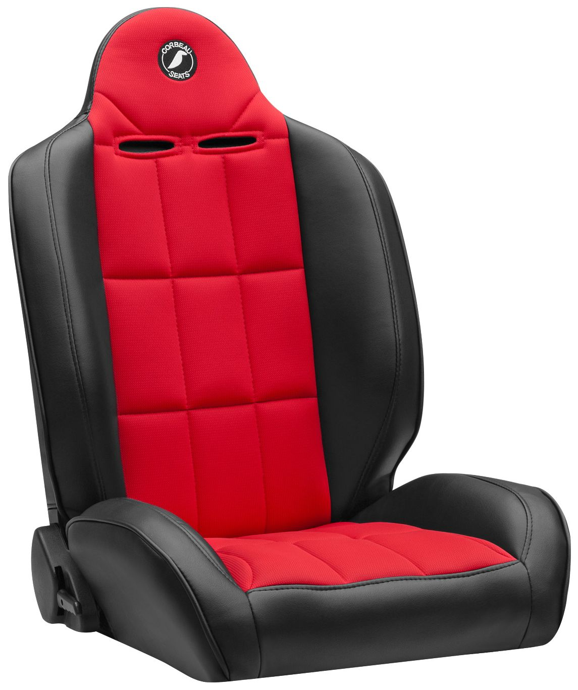 Corbeau Baja RS Racing Seat Black Vinyl/Red Cloth 66407