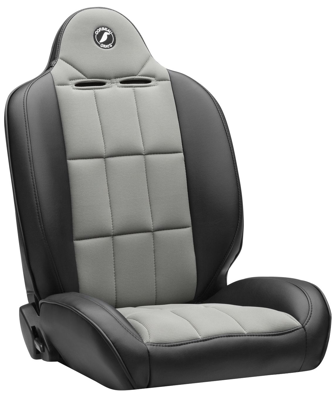 Corbeau Baja RS Racing Seat Black Vinyl/Grey Cloth 66419