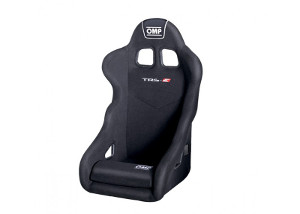 OMP TRS-E: Racing Seat Black/White 741EB