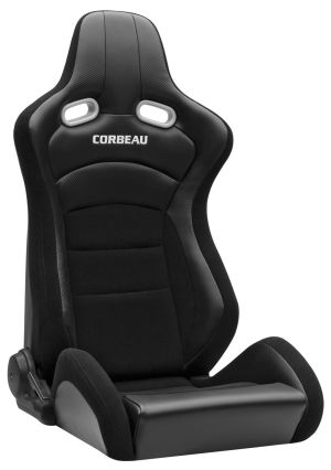 Corbeau RRX Racing Seat Black Cloth / Black Carbon Fiber VInyl 94901