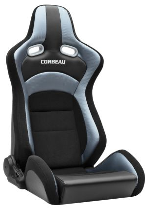 Corbeau RRX Racing Seat Black Cloth / Grey Carbon Fiber Vinyl 94909