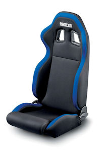 Sparco R100 Racing Seat Black/Blue 00961NRAZ **961NRAZ