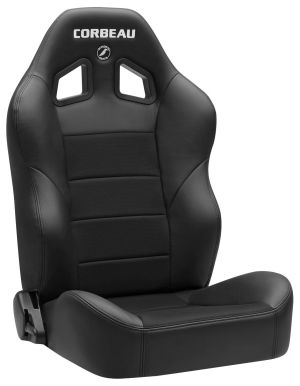 Corbeau Baja XRS Racing Seat Black Vinyl/Black Cloth 96602B