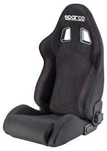 Sparco R600 Racing Seat Black/Red 00968NRRS **968NRRS