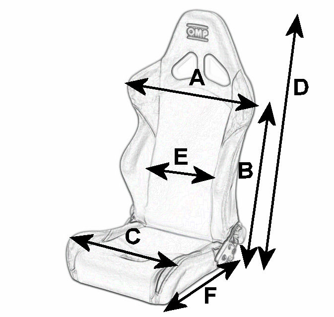 OMP Style Tuning Seat Dimensions
