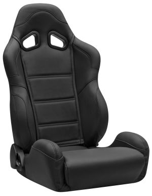 Corbeau CR1 Racing Seat Black Leather L20901 (+$226) **L20901