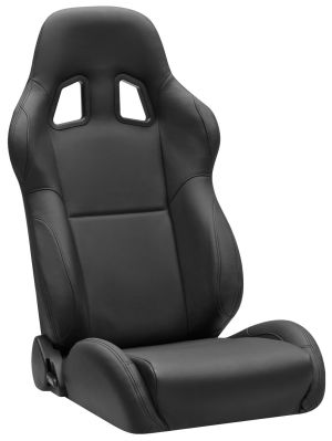 Corbeau A4 Racing Seat Black Leather L60091 (+$190) **L60091