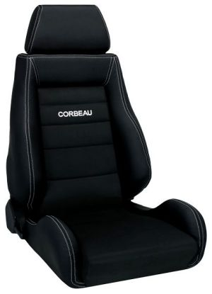 Corbeau GTS II Racing Seat Black Leather Outer/Black Microsuede Inner LS20301 (+$190) **LS20301