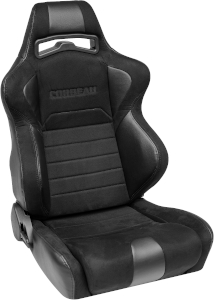 Corbeau LG1 Racing Seat WIDE Black Microsuede S25501W (+$140) **S25501W