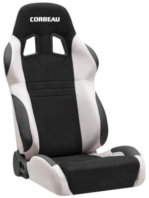 Corbeau A4 Racing Seat Grey/Black Microsuede S60099 (+$80) **S60099