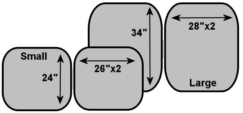 RSU Windshield Shade Dimensions