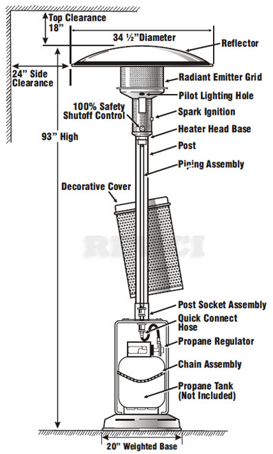 Sunglo Propane Patio Heater