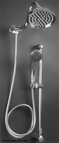 6 Beacon Rain Shower Head With Hand Held Slide Arm Available