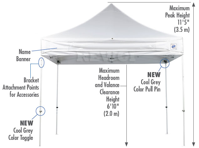 E-Z UP ES100S Instant Canopy Set
