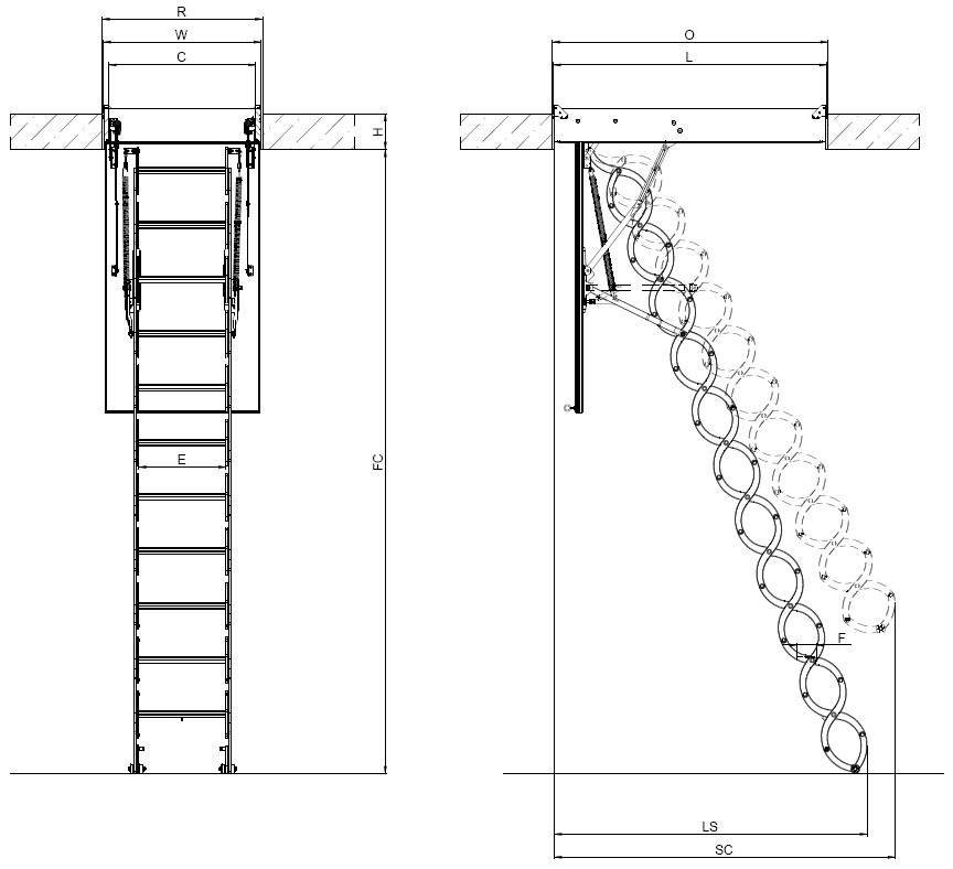 Beau Attic Stairs Code Requirements Image Balcony And