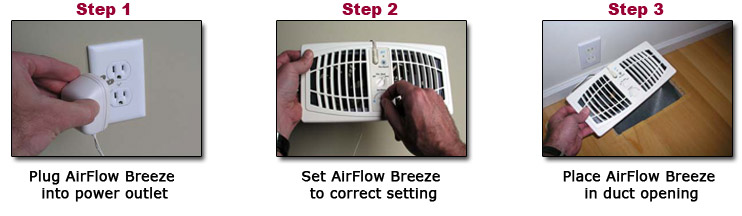 ... the AirFlow Breeze register vent booster fan provides an affordable alternative to window air conditioners space heaters costly attic fans and complex ...  sc 1 st  R.E. Williams Contractor Inc. & Register Vent Booster Fan - 6 x 10 or 12 - Almond