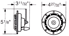 Hella Twin Supertone Horn Kit Dimensions