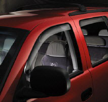 Dark tinted WeatherTech Side Window Deflectors