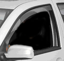 Lightly tinted WeatherTech Side Window Deflectors