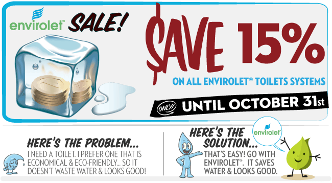 Envirolet Composting Toilet Sale on Now - Save 15%