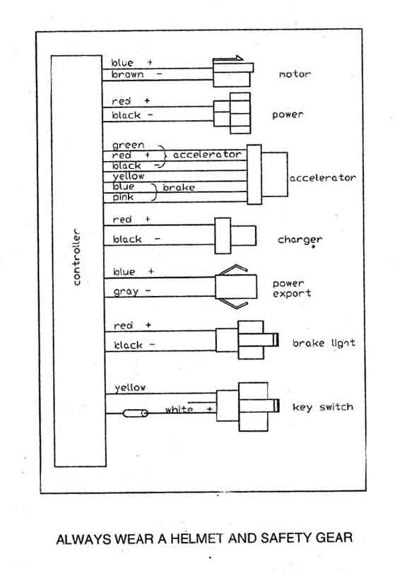 Controller for 36volt systems scooter CT-611B9 on buyang atv wiring diagram, schwinn scooter parts, schwinn scooter serial number,