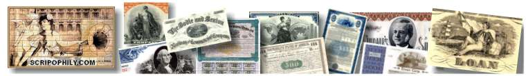 This informational website is sponsored by Scripophily.com - The Gift of History
