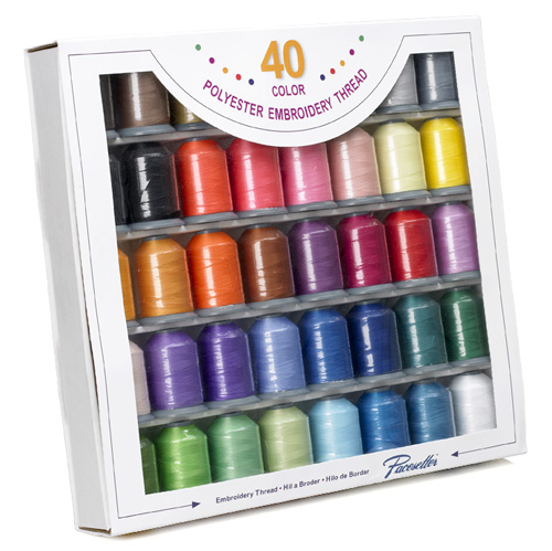 Piece embroidery thread set polyester brother sa