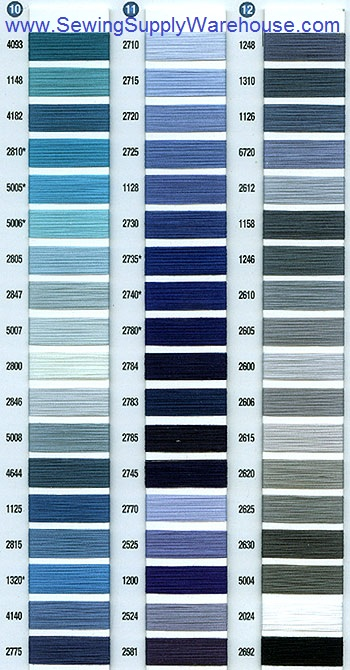 free downloads of scans of the aurifil thread chart - Aurifil Thread Color Chart