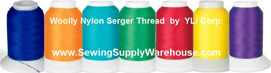 WOOLLY NYLON THREAD SERGER STRETCHY 1000M BLUE COLOR