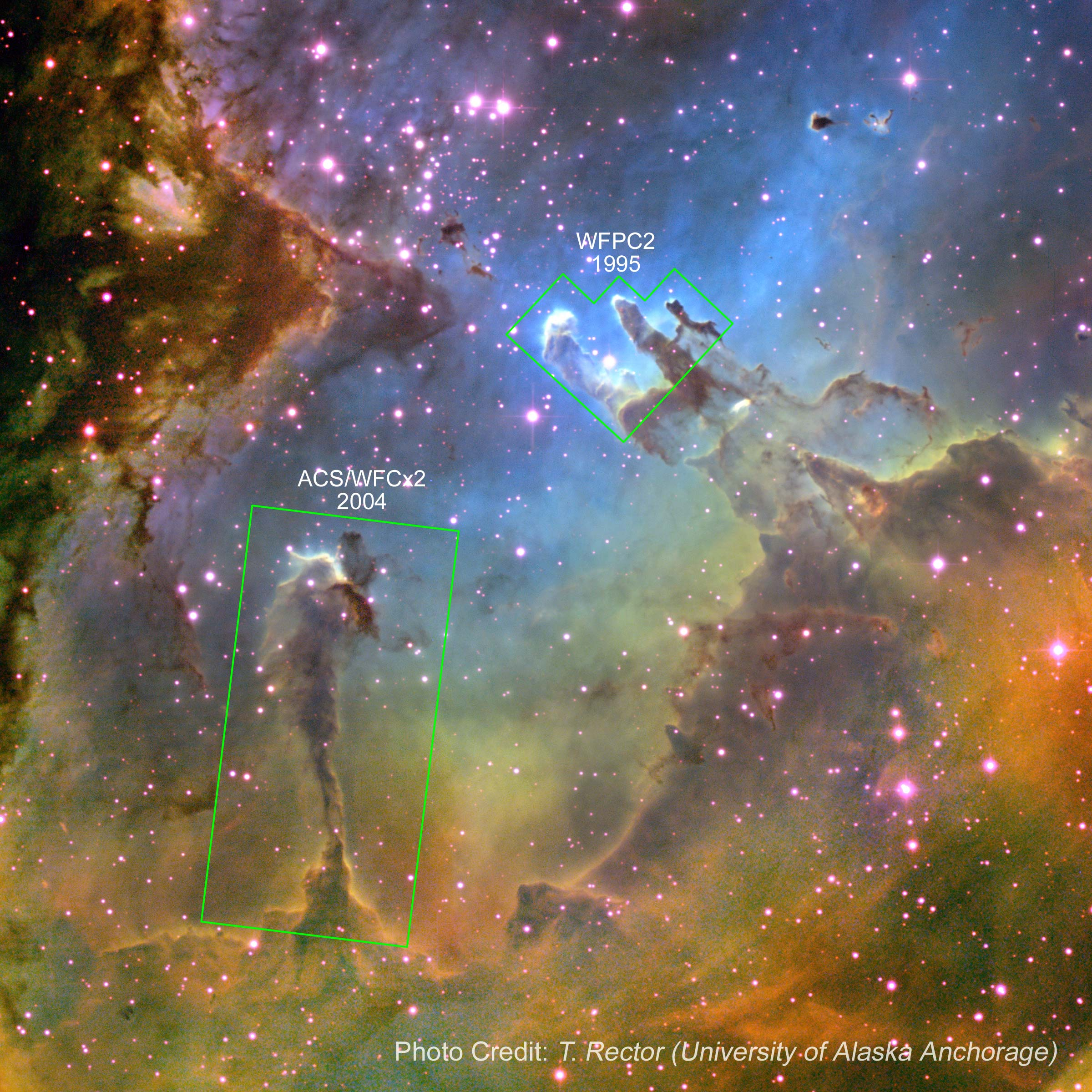 Widefield Eagle Nebula Annotated