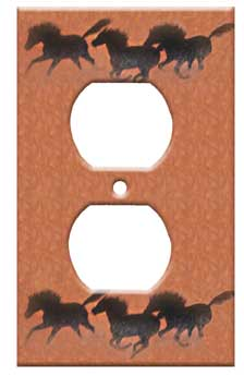 decorative western switchplate cover