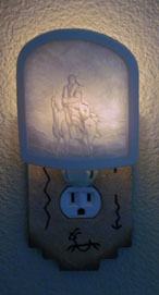 Native American Indian night light