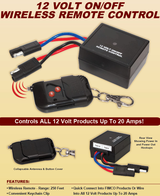 Heavy Duty 12 Volt on/off Wireless Remote Control Switch