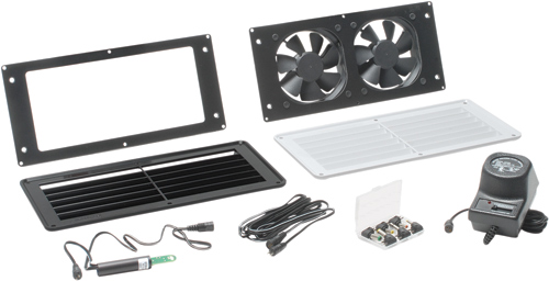 Room or Closet Dual Fan Air Vent System with Grill