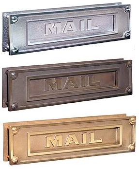 Deluxe Brass Mail Slots