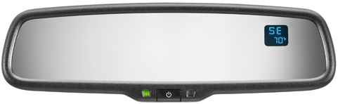 Auto Dimming Rear View Safety Mirror with Compass & Temperature Display